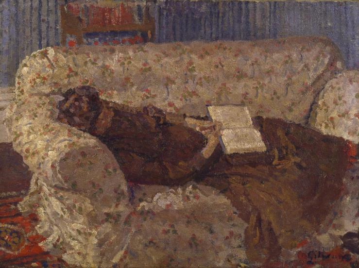 Lady on a Sofa c.1910 by Harold Gilman 1876-1919