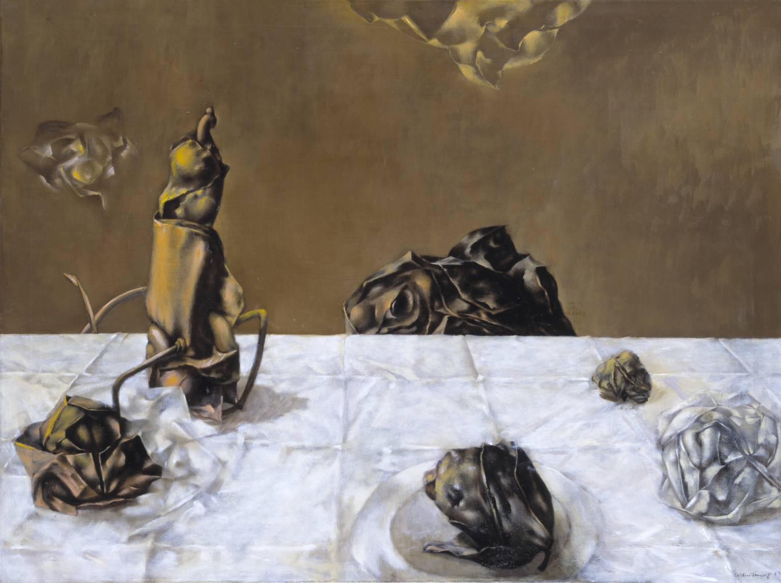 Some Roses and Their Phantoms 1952 by Dorothea Tanning born 1910